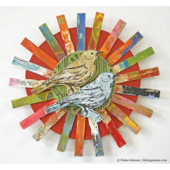 Songbird (Paint Sticks) Colorful Boho Chic Decor   Dolan Geiman