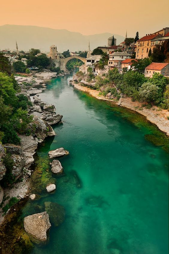 "The enchanting city of Mostar in Bosnia and Herzegovina. (I was there when it was still in ""Yugoslavia""!)"