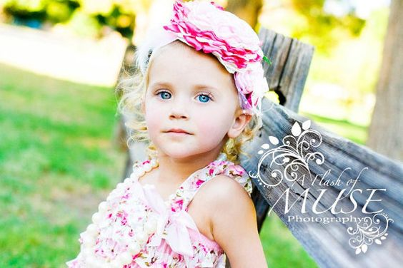 Pink cottage Headband by ElysCoutureHeadbands on Etsy, $25.00