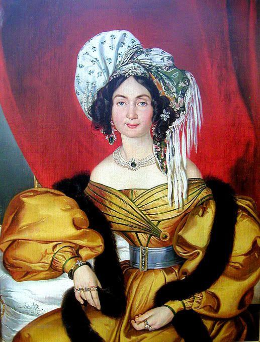 Portrait of a lady - Josef August Schoefft, 1836: