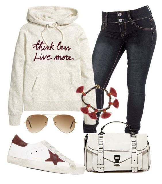 """""""Desportivo"""" by alice-fortuna on Polyvore featuring Proenza Schouler, Golden Goose, Ray-Ban and Bohemia"""
