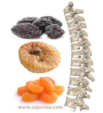 Bolovi u leđima, odnosno kičmi obično dolaze u kasnijem životnom dobu. Prirodno lečenje bolova u kičmi, jednostavan recept sa sušenim voćem.