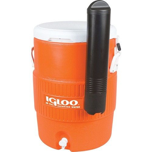Igloo 10 Gallon Seat Top Water Jug With Cup Dispenser 42021 Orange Igloo Cooler Drink Dispenser Beverage Cooler