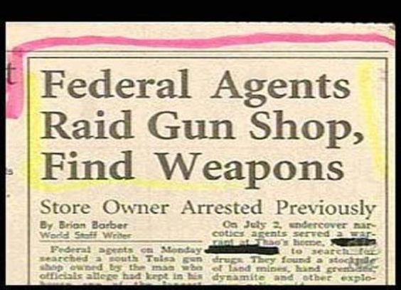 "The Most Obvious Headlines Ever --   Guns In A Gun Store?   Maybe they mistook ""gun"" for ""gum"" and thought they sold candy."