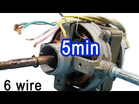 2 tips connect wire table fan most understandable, 5 or 6 wire motor wiring  diagram - YouTube | Wire table, Fan motor, Polaroid templatePinterest