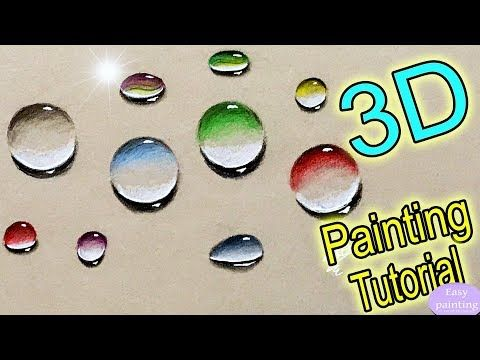 How To Paint 3d Water Droplets Colorful Drops Bubbles Marbles