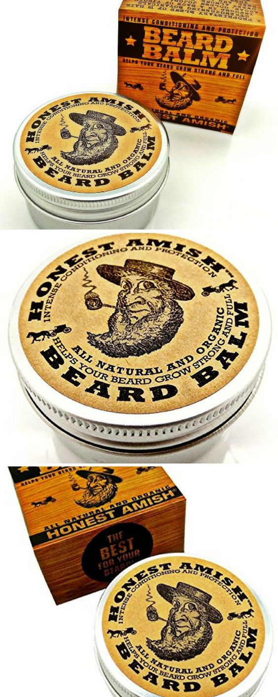 Honest Amish Beard Balm Leave-in Conditioner - All Natural -Vegan Friendly Organic Oils and Butters - 2 ounce tin.  #MensGrooming
