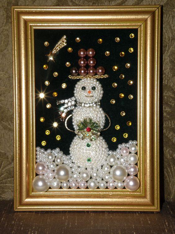 Vintage Jewelry Snowman:
