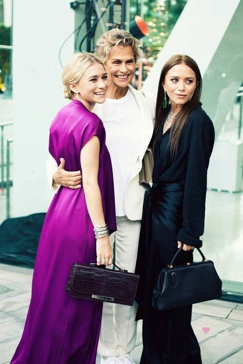 Lauren Hutton and the Olsen twins