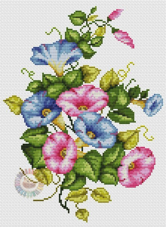 Counted Cross Stitch Patterns Needlework for embroidery Mill in Morning