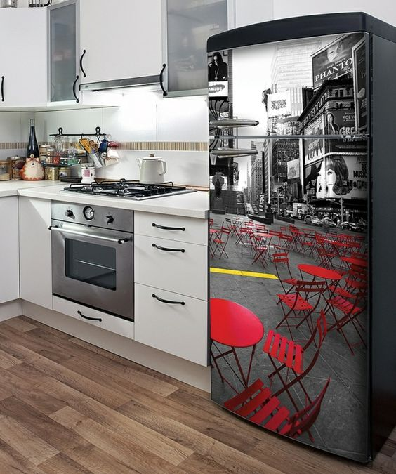 Rote Stühle Fliesen Holz Optik Coole Deko Idee | Ideen | Pinterest ... Coole Holz Fliesen
