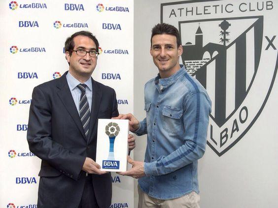 Aduriz, 'Premio BBVA' al Mejor Jugador de la Liga en marzo
