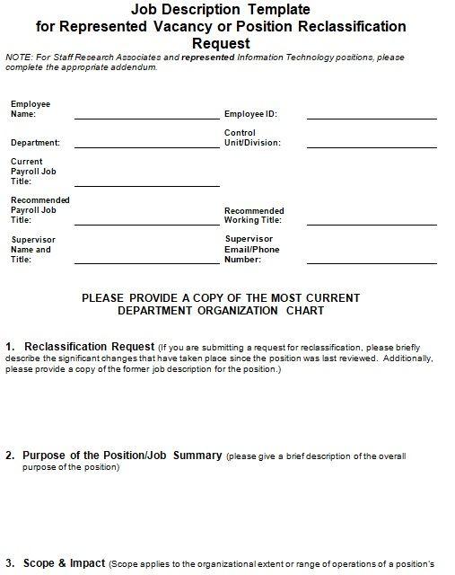 Job Description Form Job Description Template Job Description Administrative Assistant Job Description