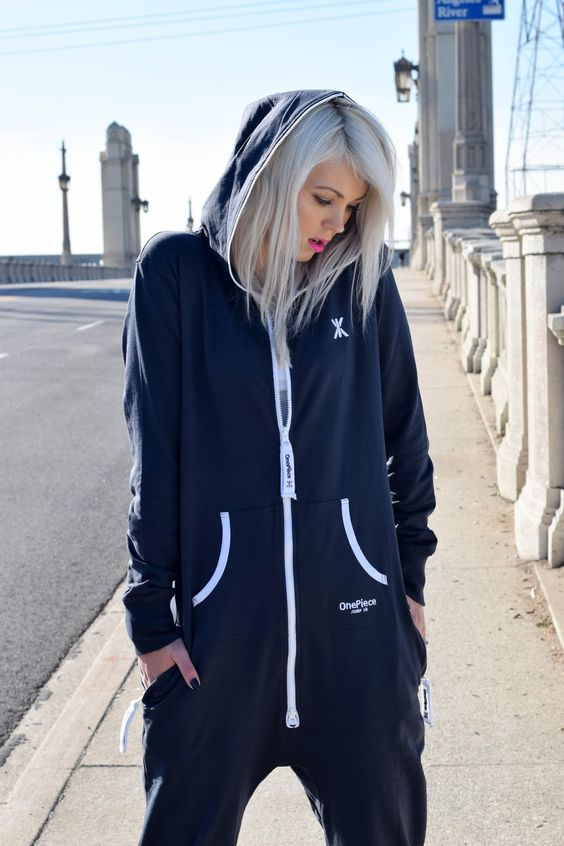 How to Style a Onesie from Onepiece.  #onepiece #onesie #fashion #fashionblogger #fbloggers #style