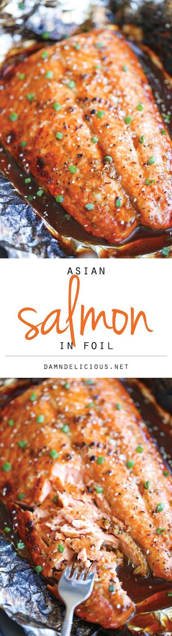 Asian Salmon in Foil