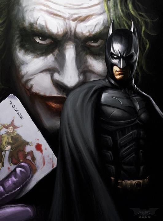 The Dark Knight... Batman and the joker:
