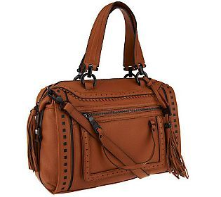 Aimee Kestenberg Pebble Leather April Satchel in caramel