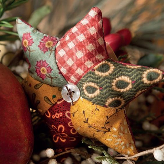 Kim Diehl's Christmas Baubles can be fashioned from scraps of fabric and wool gathered straight from your stash - hang one on the tree, tie one to a gift, or nestle one in your garlands. Get the pattern for all three baubles in Kim's book, Simple Christmas Tidings, available now.