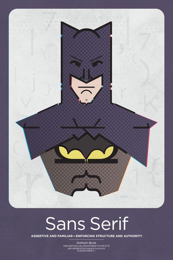Batman, MFA Superhero Typographic Classifications. Matthew Olin, 2011.