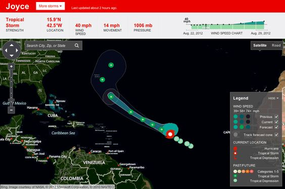 stamen design   New Hurricane Tracker for the Weather Channel