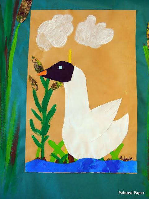 PAINTED PAPER: The Ugly Duckling...Beautiful Swans