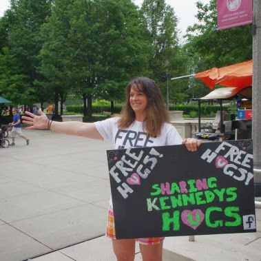 I am the coordinator for the annual Kennedys Hugs (www.kennedyshugs.com or fin them on FB) #FreeHugs event which is held in June in Chicago or the suburbs
