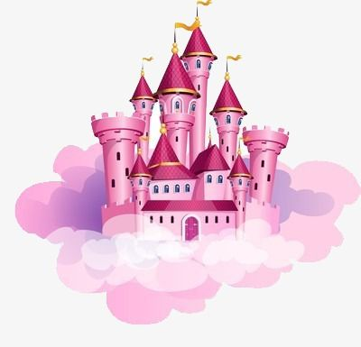 The Castle In The Clouds Castle Clipart Pink High Rise Png And Vector With Transparent Background For Free Download Castle Illustration Disney Princess Castle Magic Castle