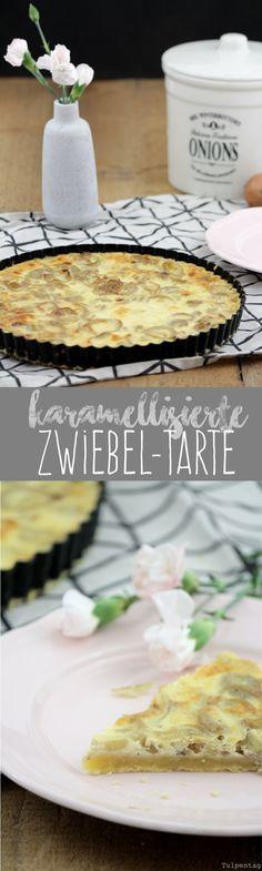 Tulpentag: Karamellisierte Zwiebel-Tarte vegetarisch zum Brunch #rezept