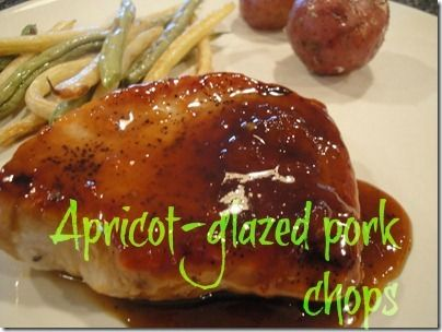 Apricot-glazed pork chops inspired by Real Simple