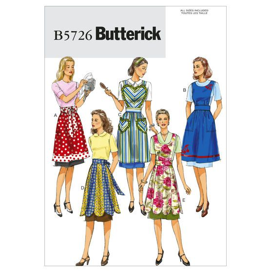 Aprons-All Sizes in One Envelope Pattern, , hi-res