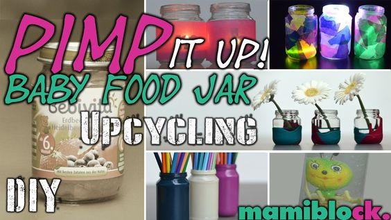 5 Dinge aus Babygläschen | DIY | Upcycling | Pimp it up Baby Food Jar | ...