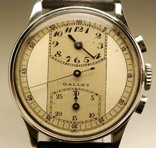 Ancienne-montre-CHRONOGRAPHE-GALLET-1930-MULTICHRON-VENUS-140-vintage-watch
