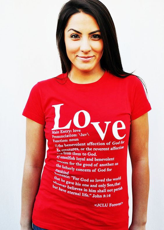$17.99 LOVE DEFINED -Christian T-Shirt by JCLU Forever Christian t-shirts