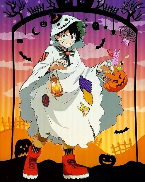 Deku Anime Halloween Hero Hero Wallpaper