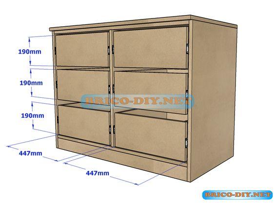 Bricolaje diy planos gratis como hacer muebles de melamina madera ...