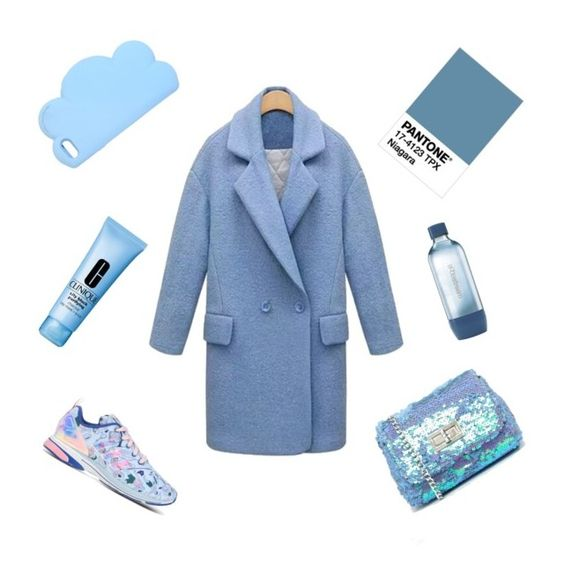 """Pantone #niagara"" by violavelvet ❤ liked on Polyvore featuring adidas, Skinnydip, STELLA McCARTNEY, Sodastream, Clinique and niagara:"