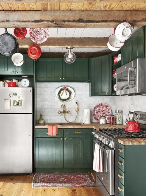 27 Of The Best Paint Colors For Small Spaces In 2020 Rustic Kitchen Kitchen Remodel Green Kitchen Cabinets