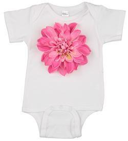 bubblegum pink baby girl onesie