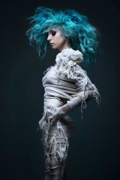 Pin By Photographer And Videomaker On 3d Images For Laser Testing Mummy Costume Blue Hair Halloween Inspiration
