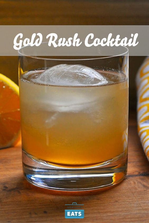 gold rush bourbon and cocktail drinks on pinterest