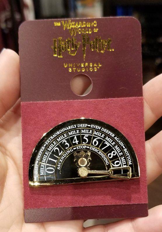 Universal Studios Harry Potter Gringotts Elevator Dial Pin Wizarding World New