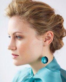 sequin ball earrings by Martha Stewart