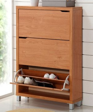 Another great find on #zulily! Maple Shoe Cabinet by Baxton Studio #zulilyfinds