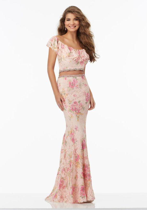 Size 0 lace prom dress 98089