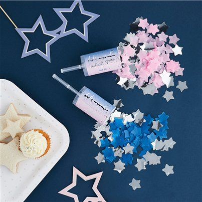 Blue or Pink Gender Reveal Poppers Unicorn Blue or Pink What Do You Think Unicorn Gender Reveal Party Poppers Unicorn Confetti Poppers