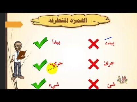 05 الهمزة المتطرفة مع تمارين وأمثلة Youtube Arabic Calligraphy