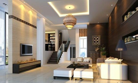 treppe wohnzimmer farben wandgestaltung holz bequem Wandfarbe - wohnzimmer deko afrika