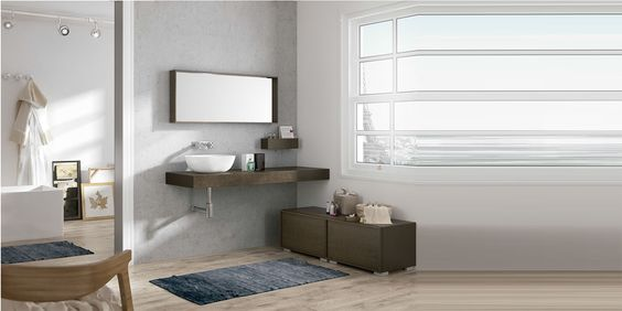 Mueble de Baño de diseño donde se mezcla el pracmatismo con el buen gusto. Todo en el http://mueblesidecoracion.com/es/51-banos