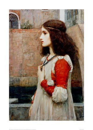 Juliet Giclee Print by John William Waterhouse.   I love her expression in this.