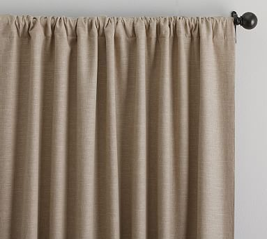 Emery Linen Poletop Drape W/Blackout, Walnut